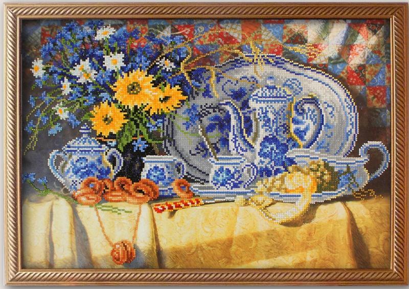 Мозаичная картина Чаепитие 10023
