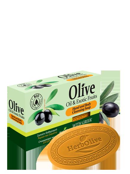 Оливковое мыло Herbolive с экзотическими фруктами