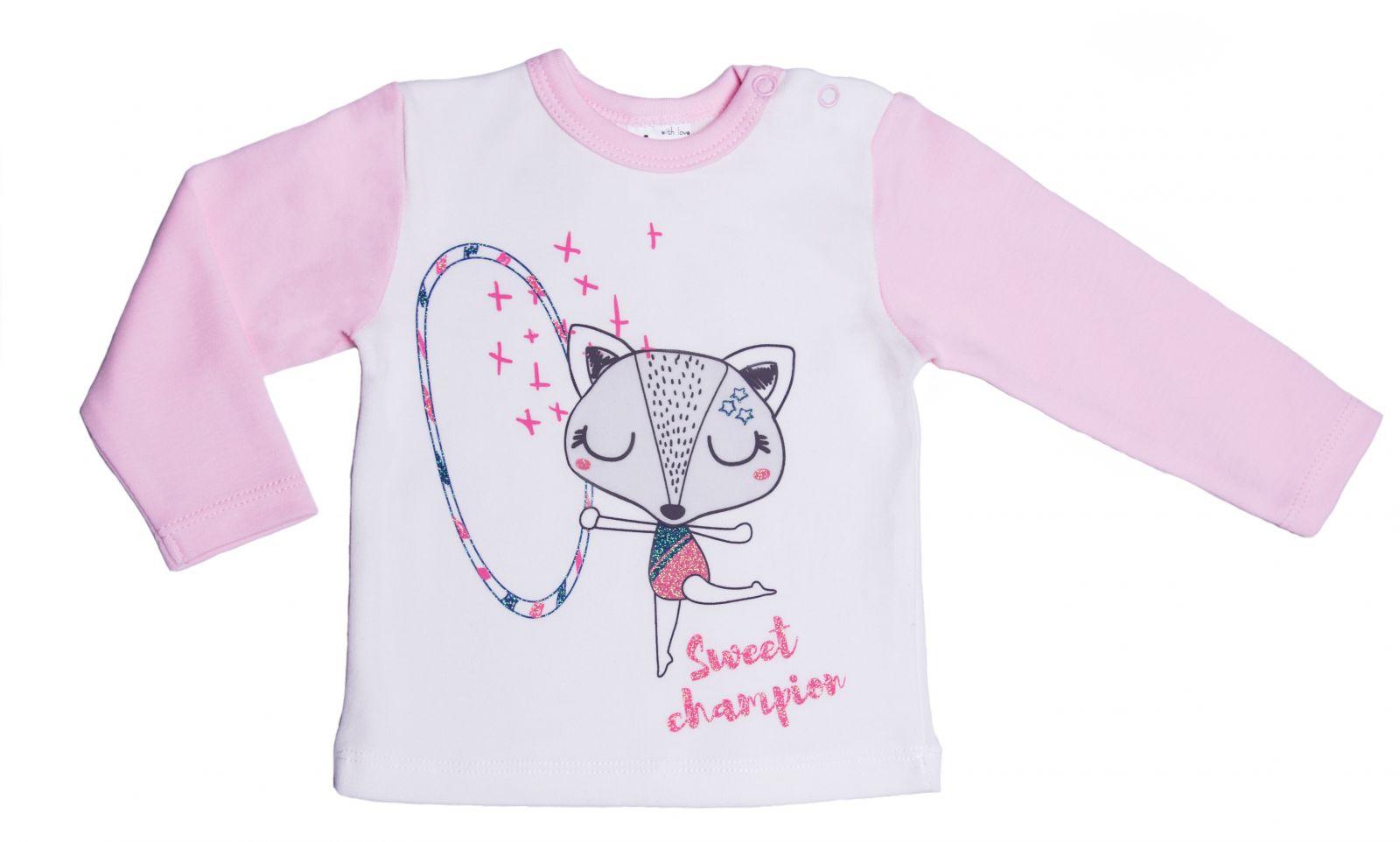 Купить Лонгслив Viva Baby D6502-3 Белый 68р., Кофточки, футболки для новорожденных
