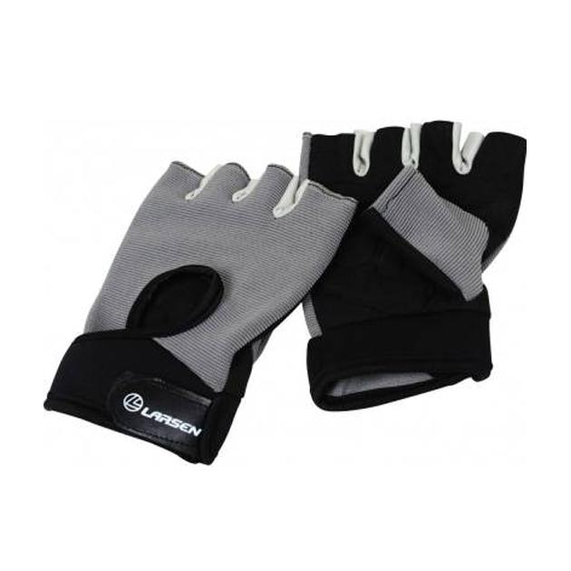 Перчатки для фитнеса Larsen 16 8344 черно серые