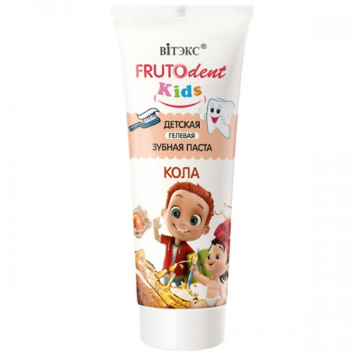 Купить Зубная паста детская Витэкс Frutodent гелевая Кола 65 г, Vitex, Детские зубные пасты