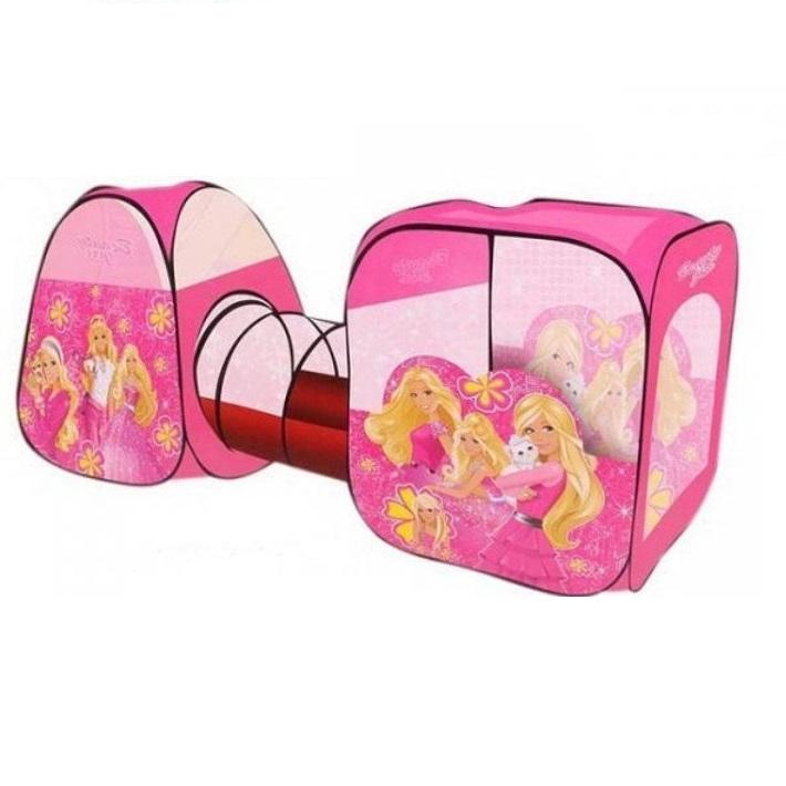 Палатка c туннелем Babydays розовая 8115B