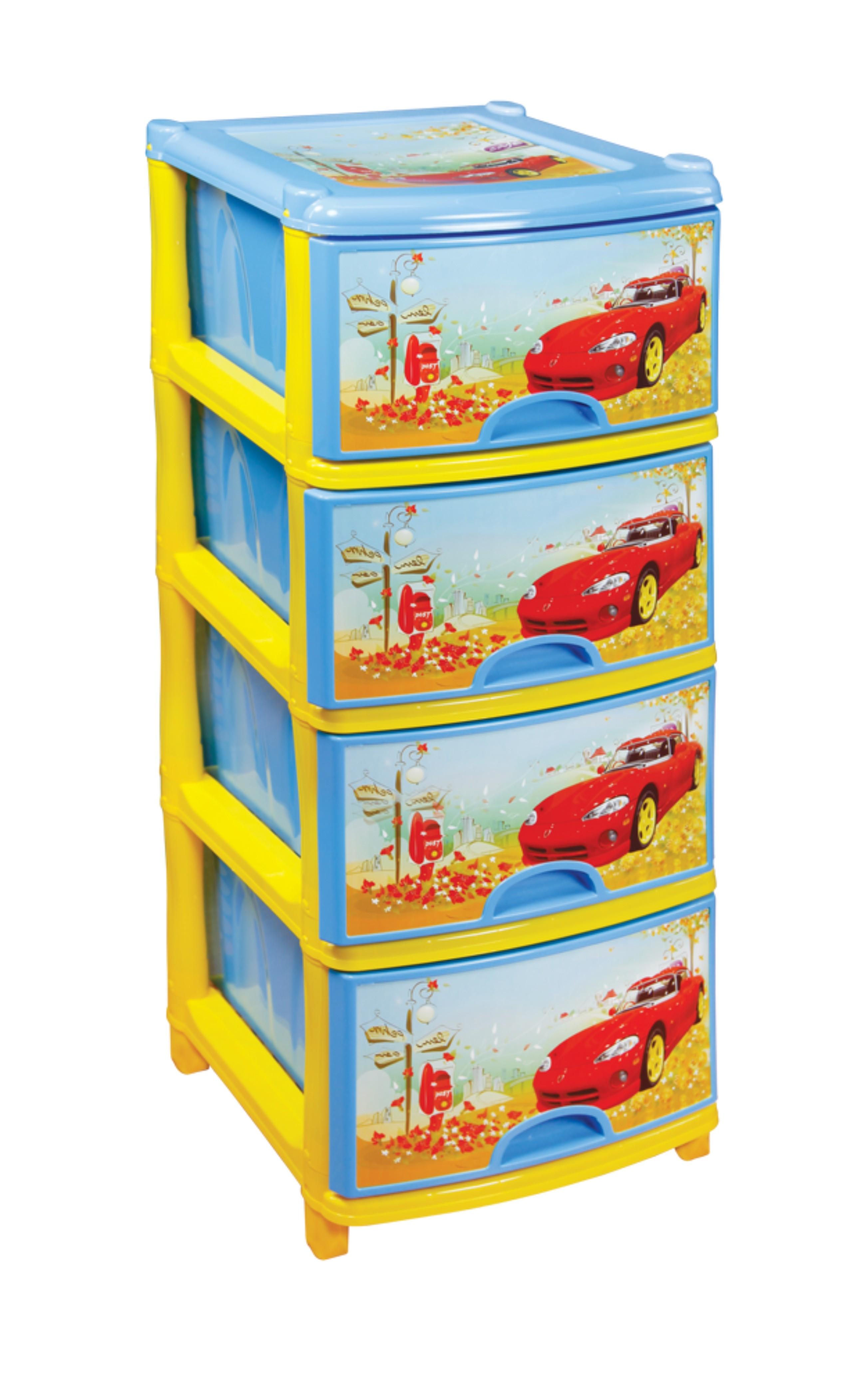 Комод детский Альтернатива четырехсекционный для мальчиков (А) М1243