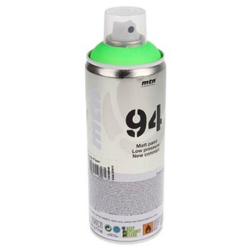 Аэрозольная краска Mtn 94 Fluor флуоресцентная зеленый 400 мл