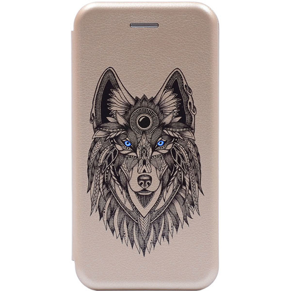 Чехол Gosso Cases для Apple iPhone 8 Plus/7 Plus «Grand Wolf» Gold