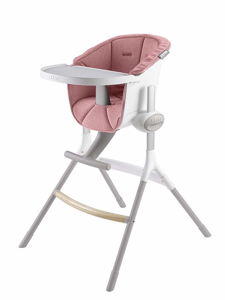 Купить Beaba подушка для стульчика up&down high chair цвет розовый, Чехол на стульчик для кормления