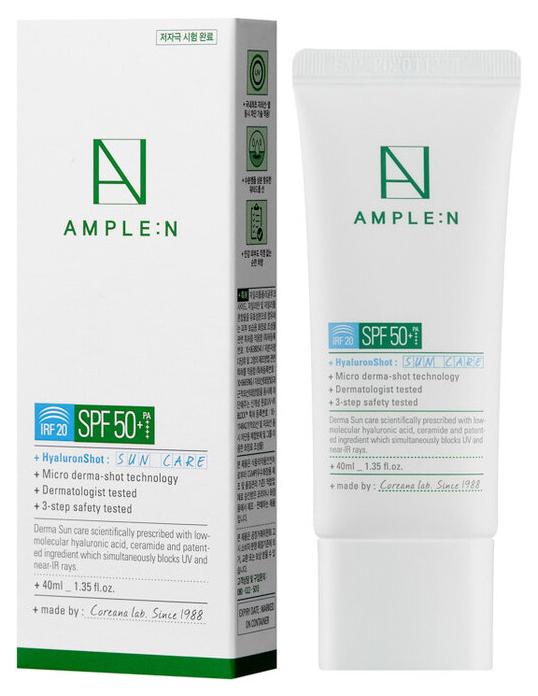 Купить Солнцезащитное средство Amplen Hyaluron Shot Sun Care SPF 50+/PA++++ 40 мл, AMPLE:N