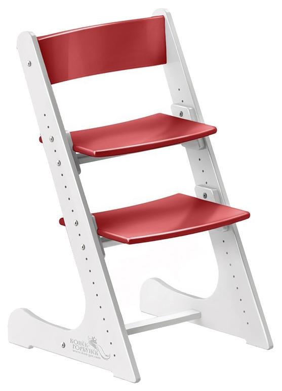 Купить Растущий Фанера Бело-красный, Детский растущий стул Конёк Горбунёк (цвет каркаса: бело-красный), Конек Горбунек, Детские стульчики