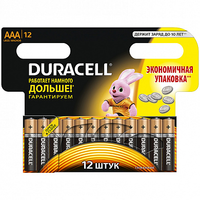 Батарейка Duracell Turbo MAX LR03-12BL 12 шт