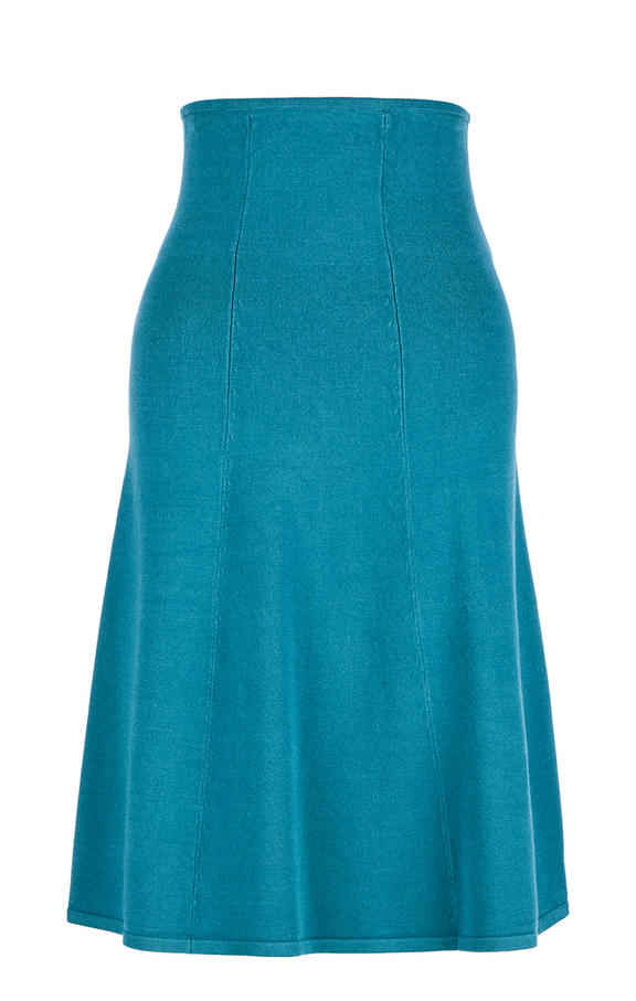 Юбка женская Stefanel синяя 44 фото