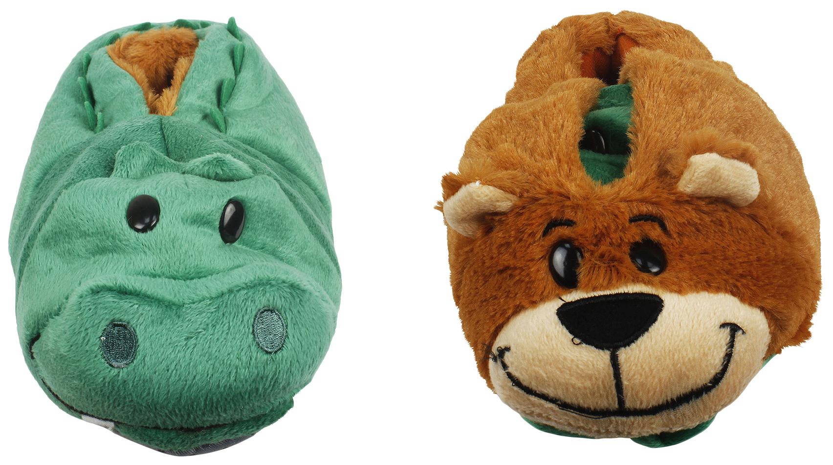 1 TOY Вывертапки детские Крокодил-Медведь, размер 28-30 Т14153, Мягкие игрушки животные  - купить со скидкой