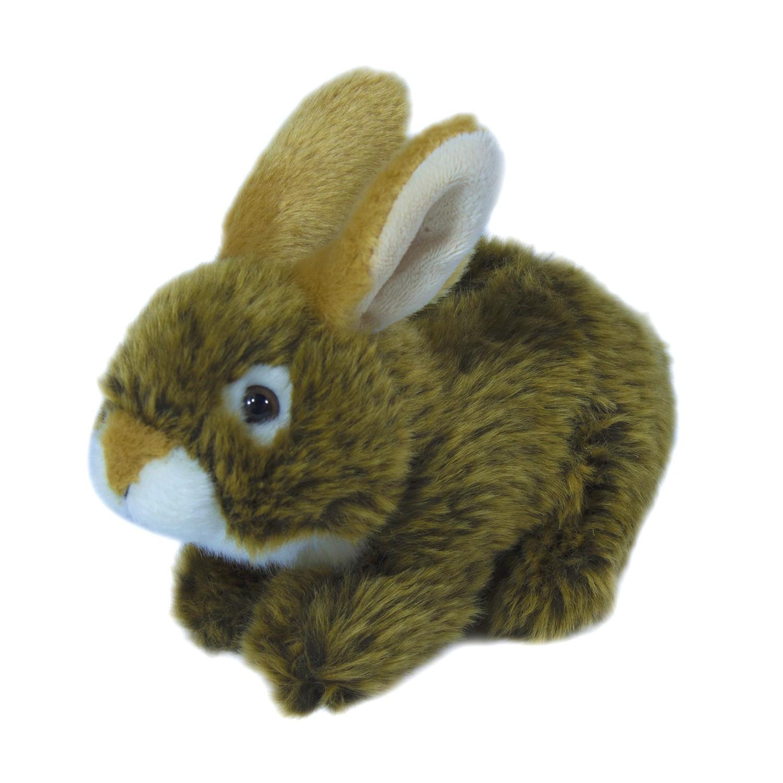 Купить Мягкая игрушка Teddykompaniet заяц, коричневый, 19 см, 7124, Мягкие игрушки животные