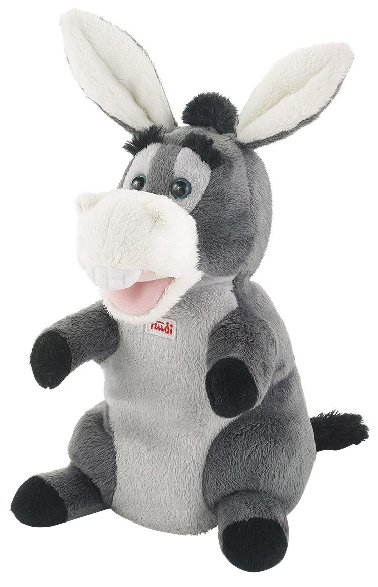 Купить Мягкая игрушка Trudi на руку Ослик, 25 см, Мягкие игрушки животные