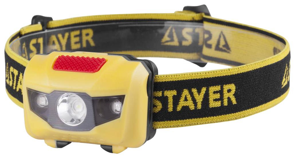 Туристический фонарь Stayer Master желтый/черный, 4 режима