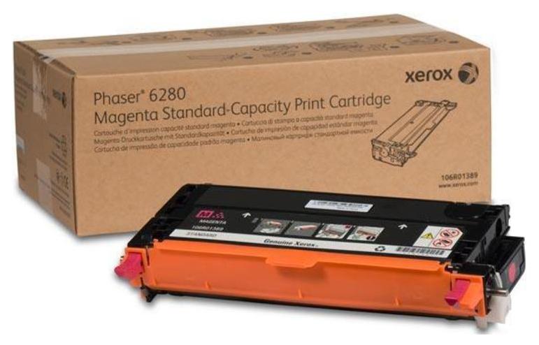 Тонер-картридж Xerox 106R01389 для Phaser 6280 пурпурный 2200стр  - купить со скидкой