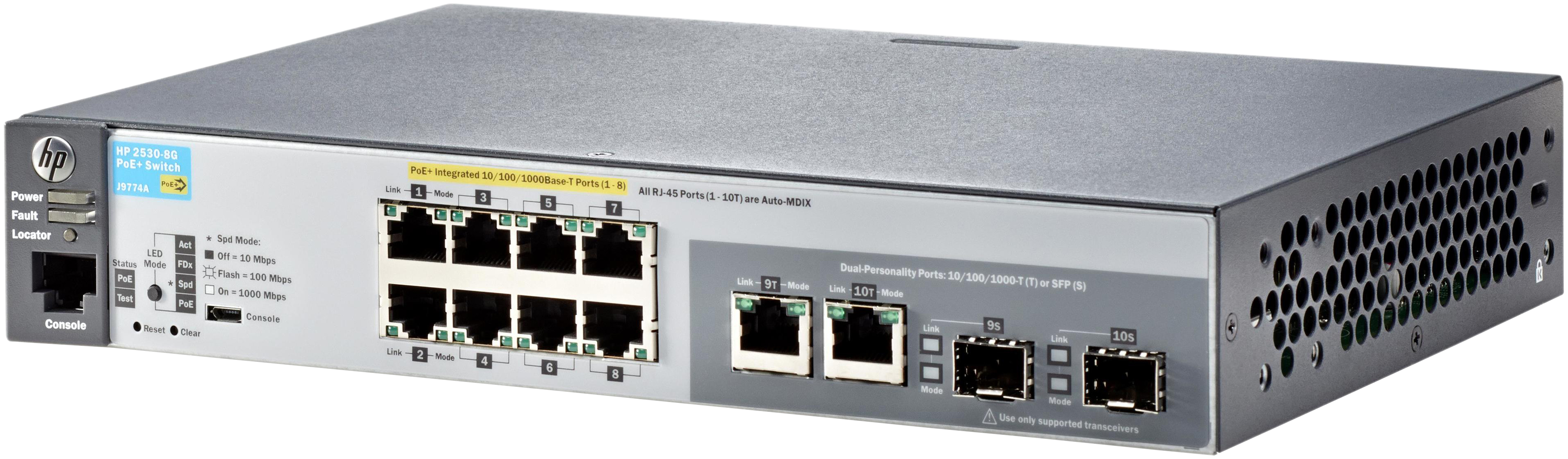 Коммутатор HP Aruba 2530 8G PoE+ J9774A