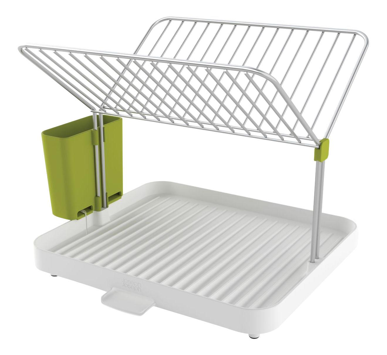 Сушилка для посуды и столовых приборов 2-уровневая со сливом y-rack белый/зеленый