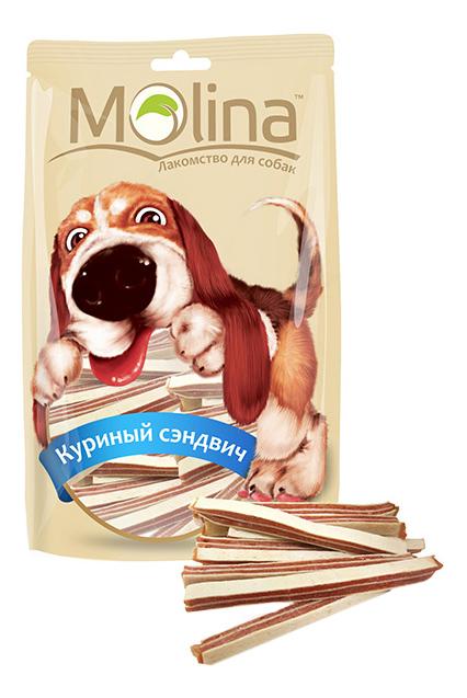 Лакомство для собак Molina Куриный сэндвич, 80г