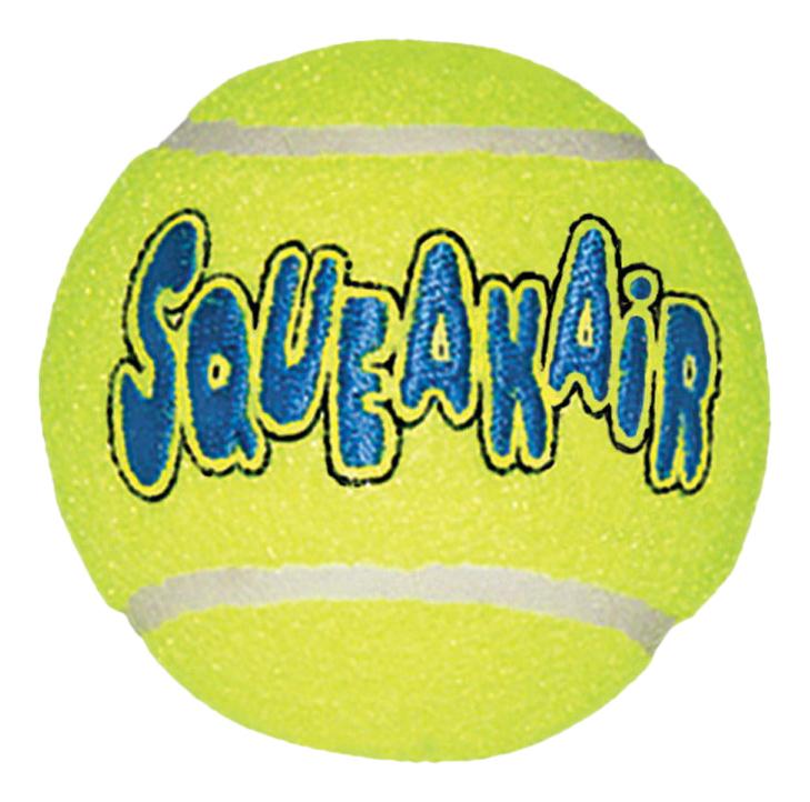 Апорт для собак KONG Теннисный мяч, зеленый, длина 10.8 см, 3 шт фото