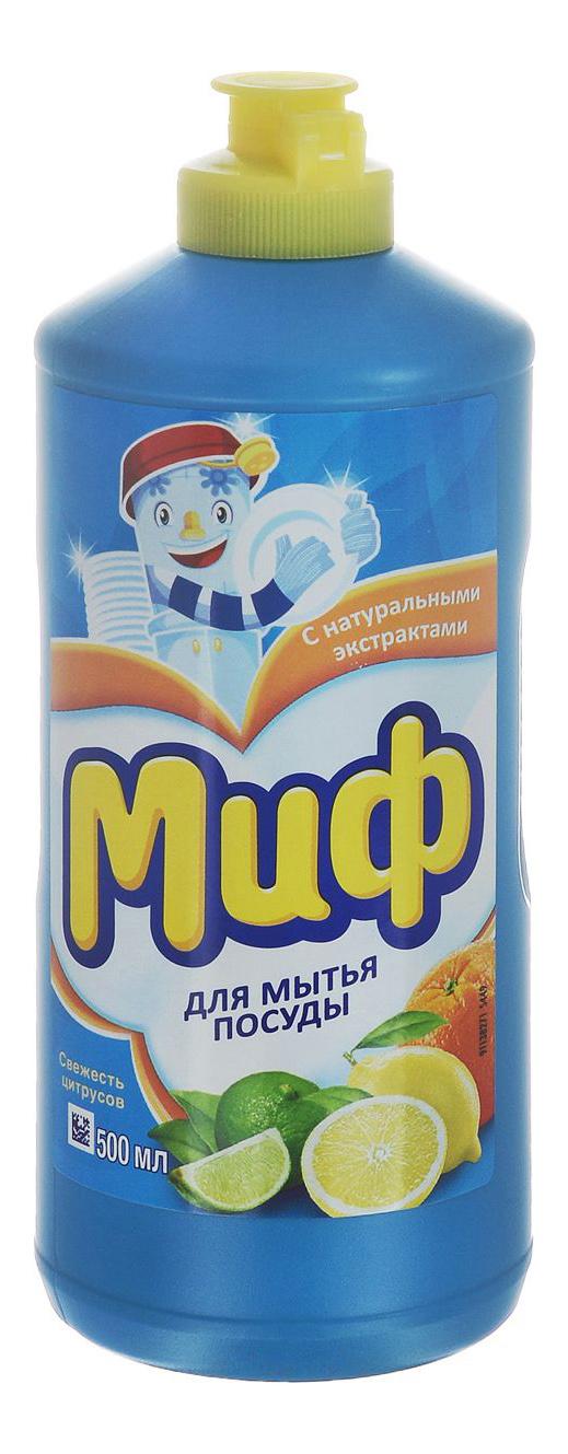Средство для мытья посуды Миф свежесть цитрусов 500 мл
