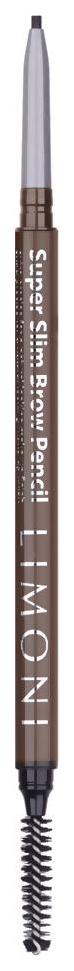 Купить Карандаш для бровей LIMONI Super Slim Brow Pencil 02 Greige 0, 09 г