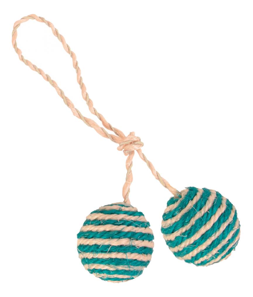 Веревка с мячом для кошек Trixie, Сизаль,