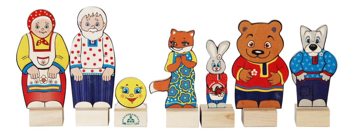 Купить Деревянная игрушка для малышей КРАСНОКАМСКАЯ ИГРУШКА Персонажи сказки Колобок, Краснокамская Игрушка,