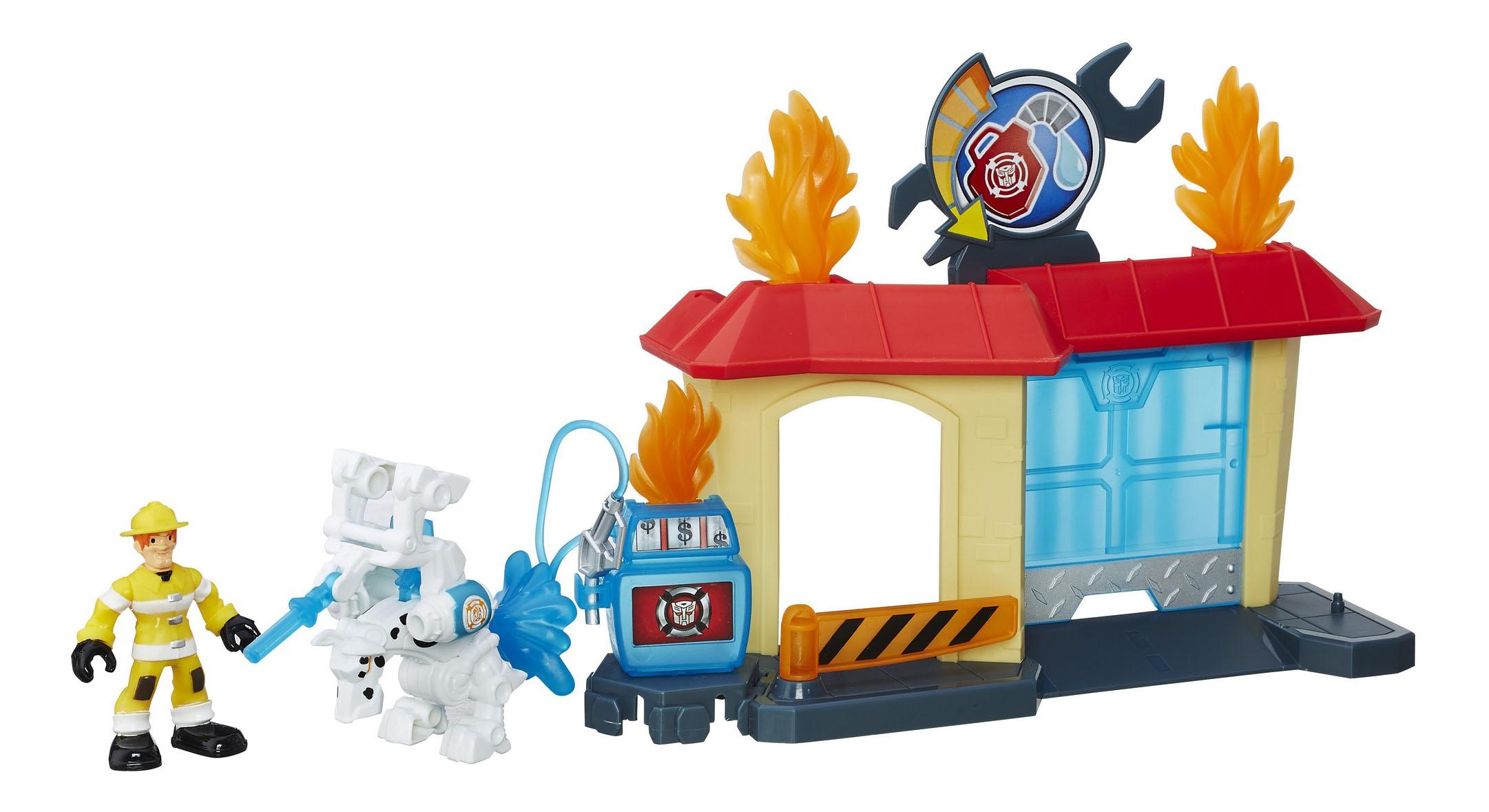 Купить Горящий автосервис, Игровой набор Трансформеры Hasbro Playskool Heroes Горящий автосервис, Transformers, Игровые наборы