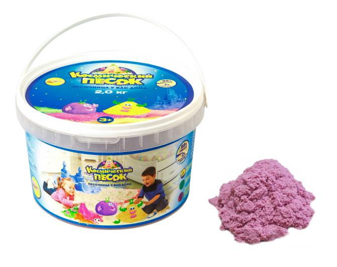 Купить Т58512, Кинетический и космический песок 1TOY Розовый 2 кг, 1 TOY,
