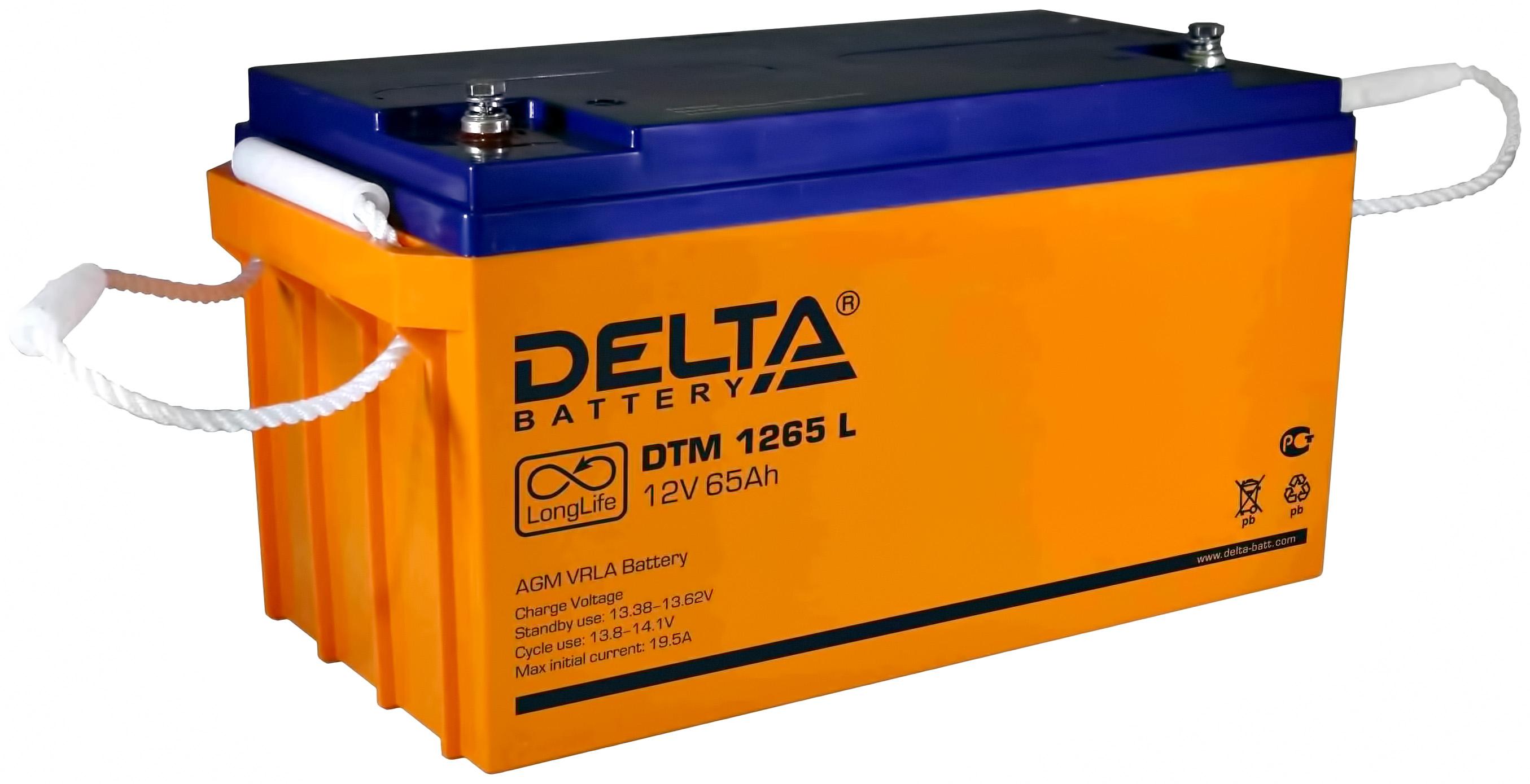 Аккумулятор Delta Для систем бесперебойного питания 65 Ач Обратная полярность фото