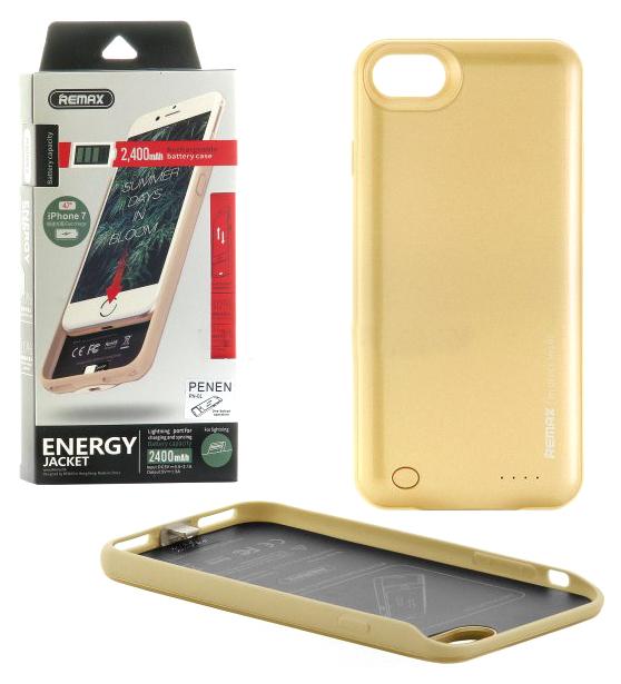 Чехол + АКБ Remax Penen PN-01 для Apple iPhone 7 Золотистый