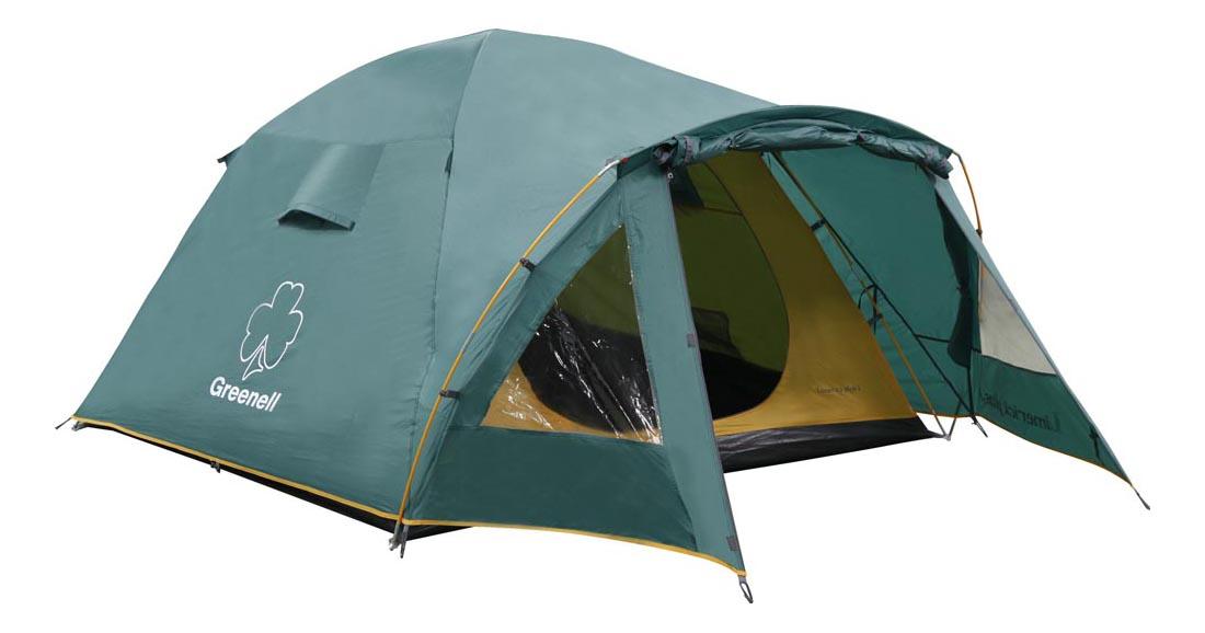 Палатка Greenell Лимерик Плюс трехместная зеленая
