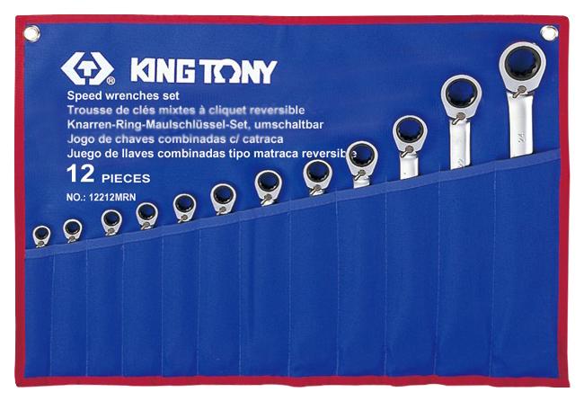 Универсальный ключ с храповым механизмом KING TONY