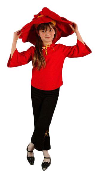 Карнавальный костюм Бока Цветок, цв. красный; черный