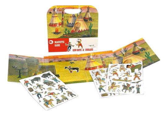 Купить Настольная магнитная игра Egmont Ковбои и индейцы 630663, Семейные настольные игры
