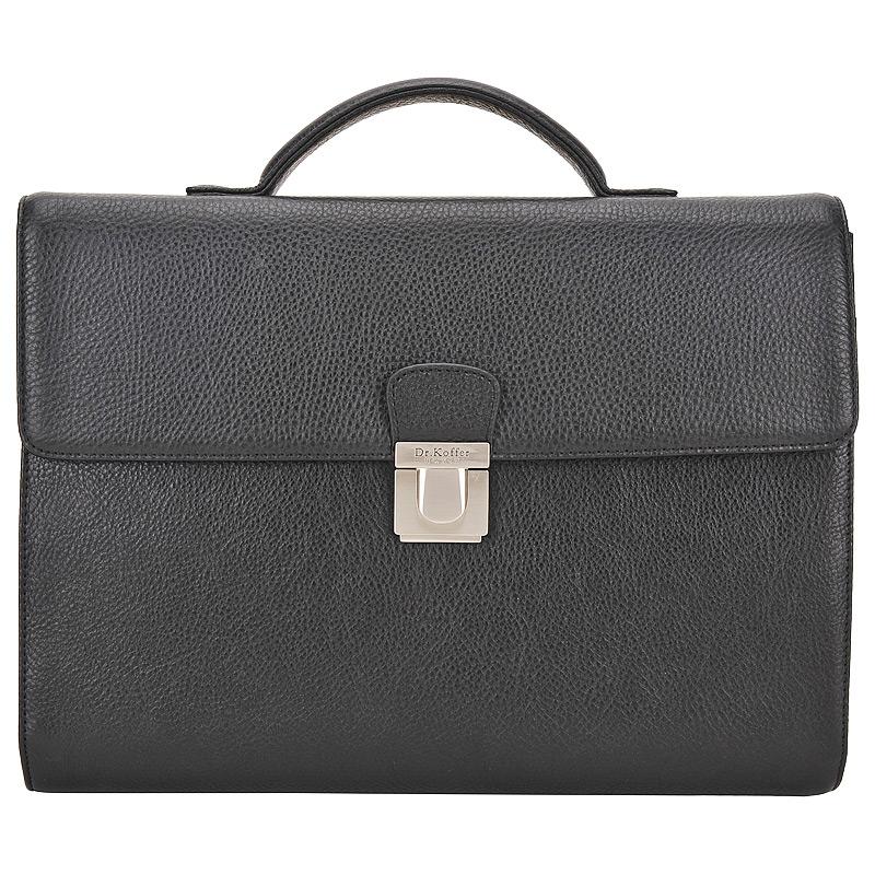Портфель мужской кожаный Dr. Koffer P402322-02-04 черный фото