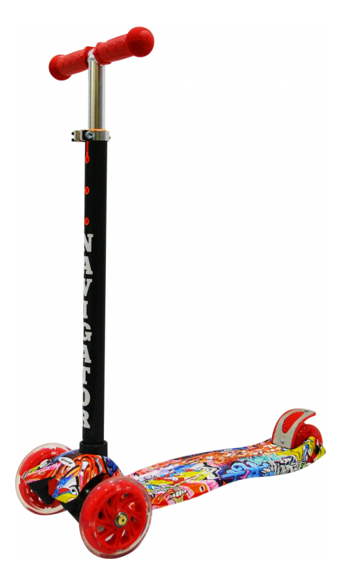 Кикборд детский 3х колесный черно-голубой NAVIGATOR Т59983