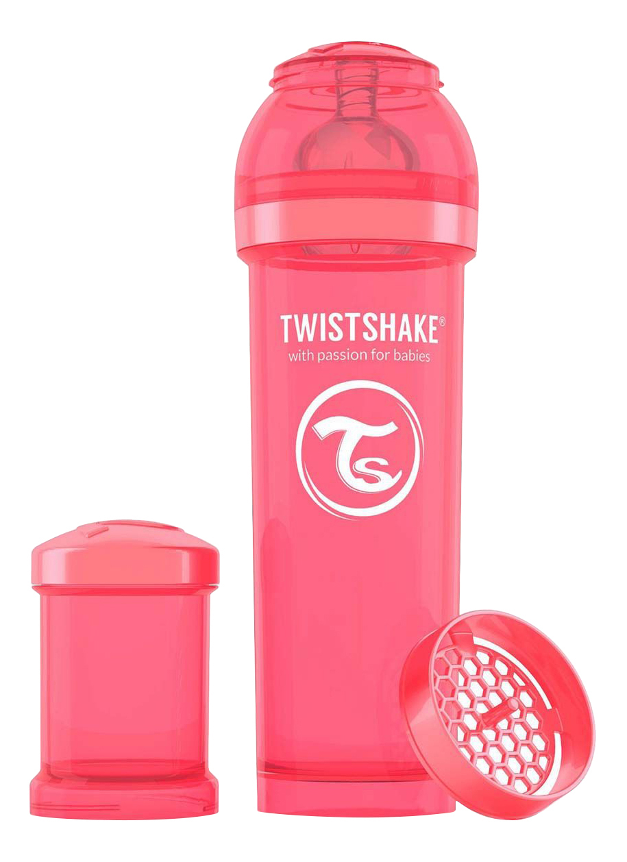 Детская бутылочка Twistshake Антиколиковая 330 мл персиковая фото