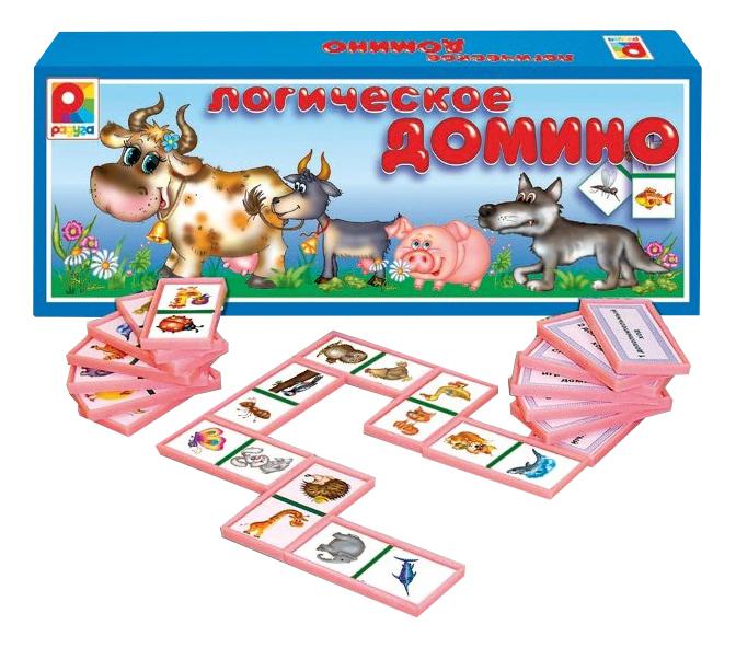 Купить Настольная игра Домино логическое Животные Радуга с-534,