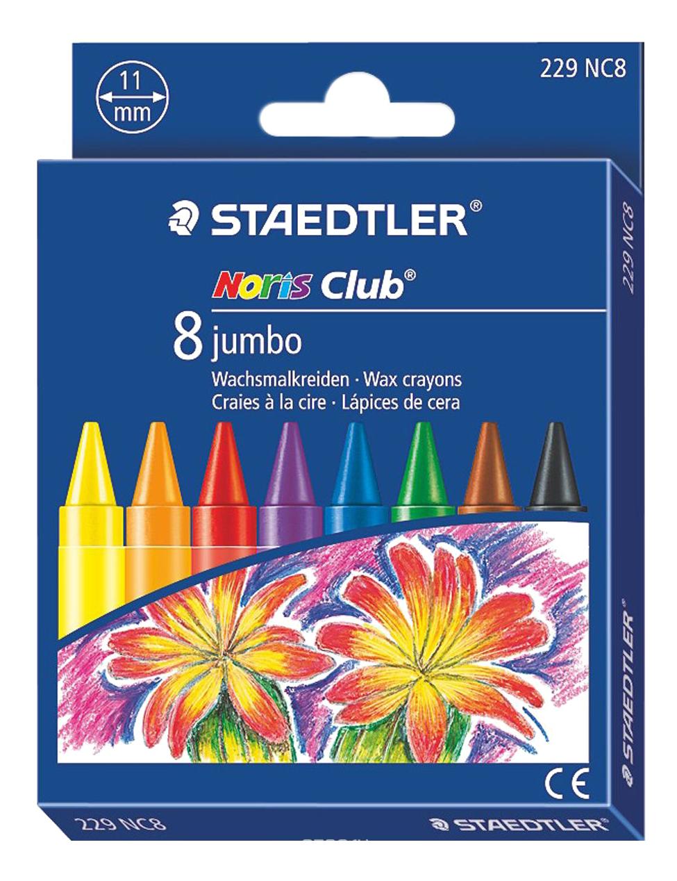 Набор восковых мелков Jumbo 8 цветов STAEDTLER