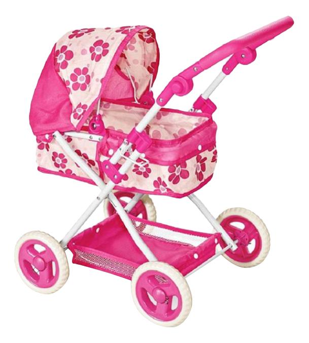 Коляска-люлька для кукол Розовая Gratwest Д79530