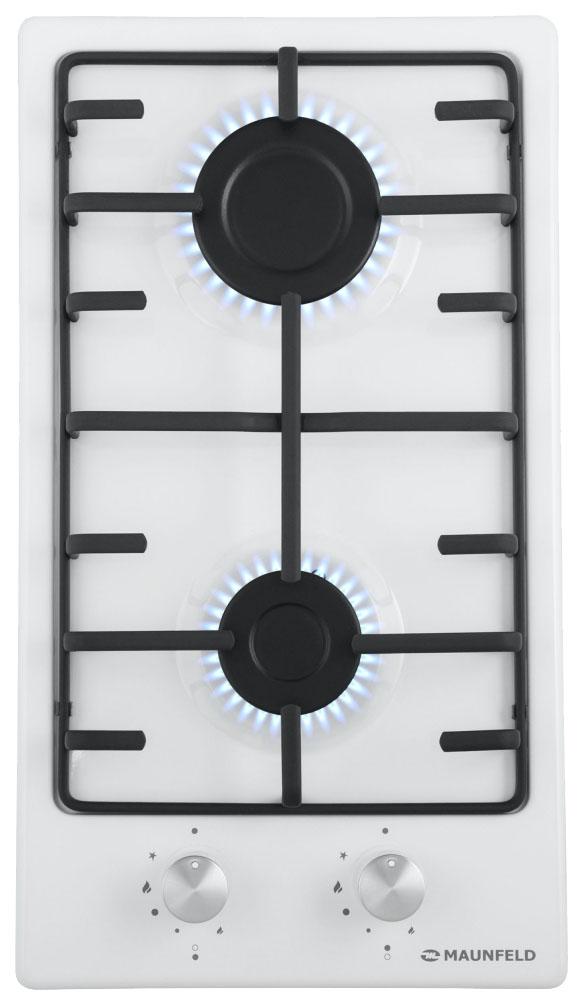 Встраиваемая варочная панель газовая MAUNFELD EGHE.32.3EW/G White фото