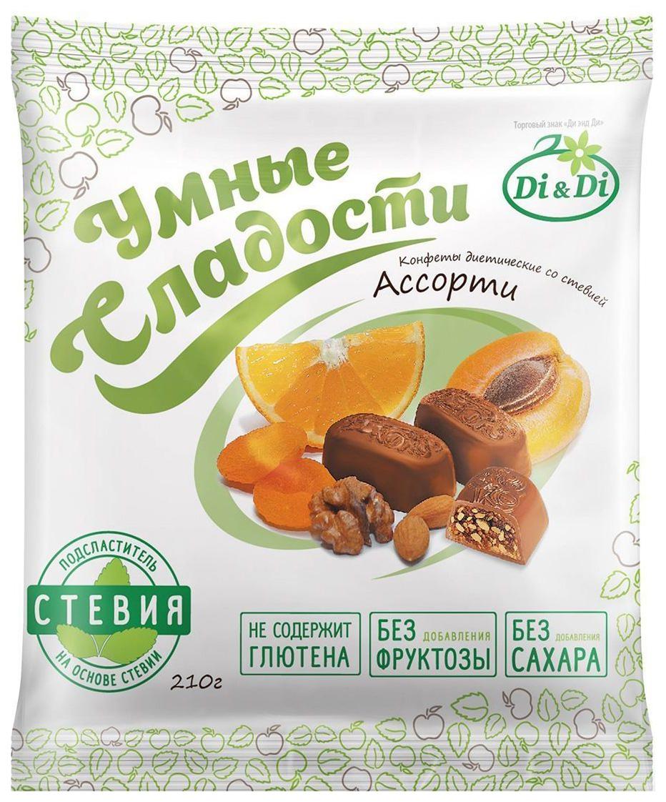 Конфеты со стевией Умные сладости ассорти 210 г
