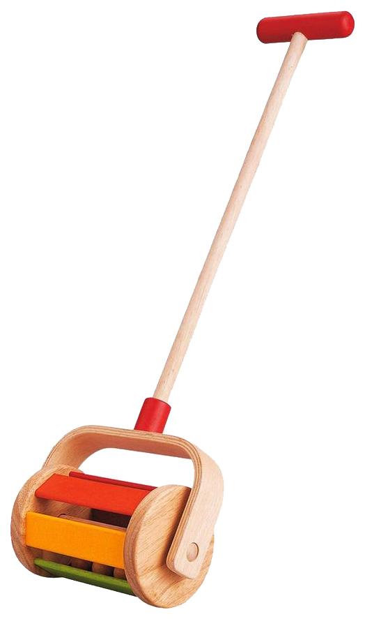 Купить Каталка детская Plan Toys Preschool Walk N Roll Push and Pull с ручкой 5137, PlanToys, Игрушки-каталки