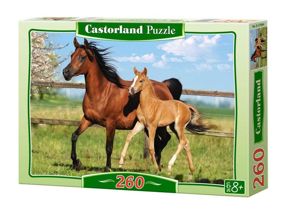 Купить Пазл Castorland 260 деталей Лошади, средний размер элементов 1, 9?1, 7 см, Пазлы