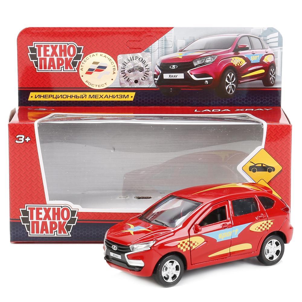 Купить Машинка Технопарк металлическая инерционная lada xray, 12 см, Игрушечные машинки