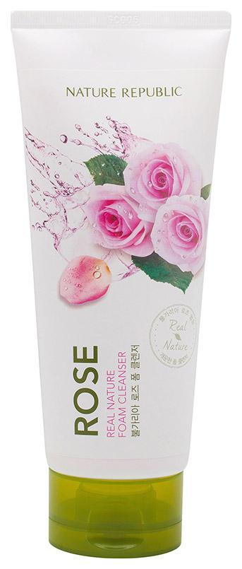 Пенка для умывания Nature Republic Real Nature Rose Foam Cleanser 150 мл фото