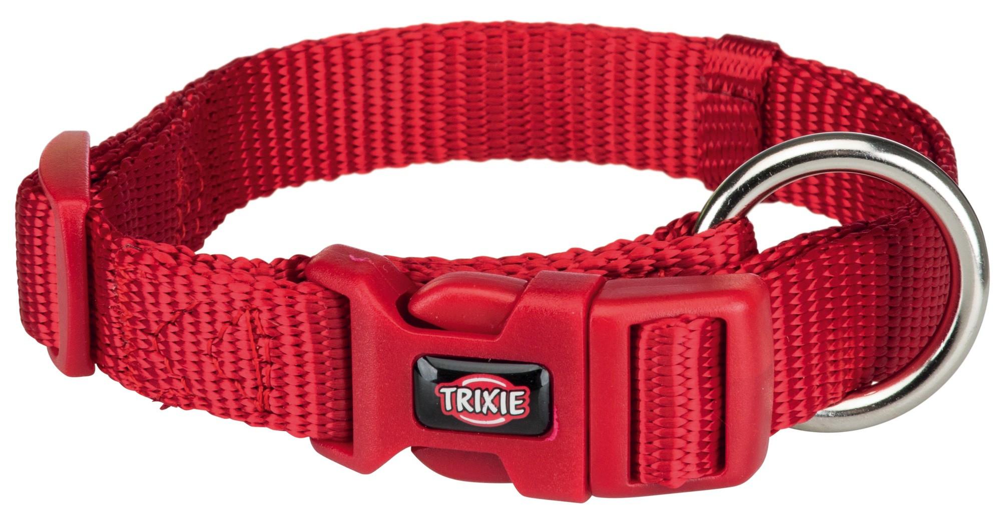Ошейник для собак TRIXIE Premium, красный, S–M, 30–45см, 15мм