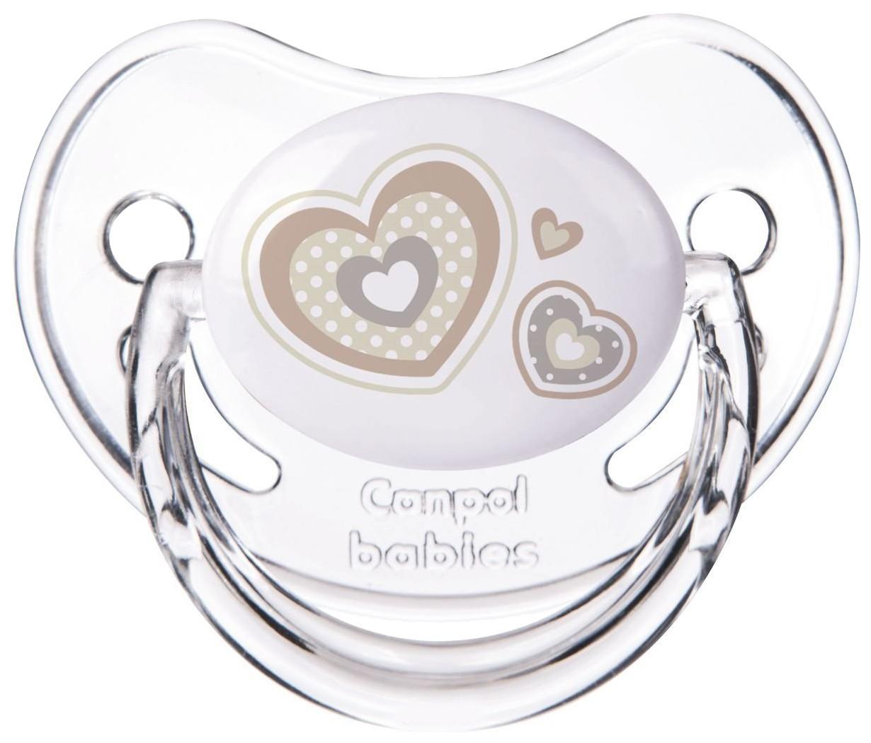 Пустышка анатомическая Canpol Newborn baby силикон, 6-18 мес., арт. 22/566 цвет белый