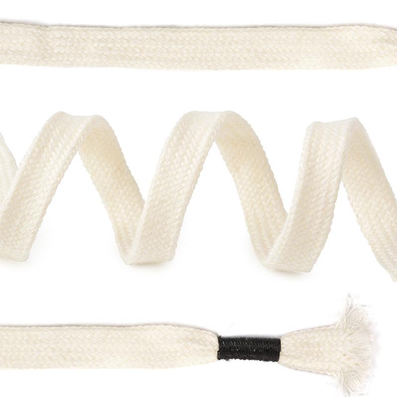 Шнурки для обуви TBY плоские 10 мм 130 см белые 50 штук